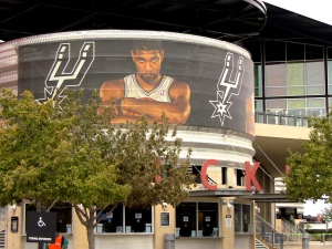Tim Duncan looms large at the At&T Center in San Antonio